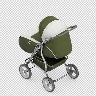 Carrinho de bebê isométrico