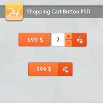 Carrinho de botões para sites de compras