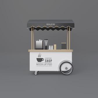 Carrinho de café de rua