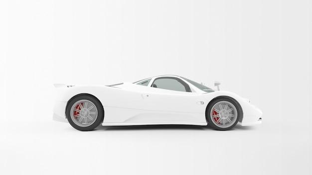 Carro branco isolado