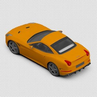 Carro esporte isométrico