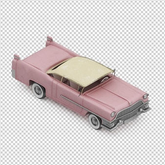Carro vintage isométrico