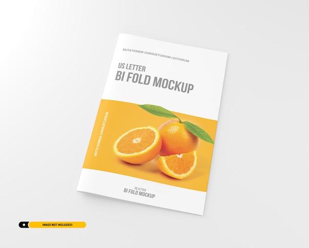 Carta bifold brochura maquete
