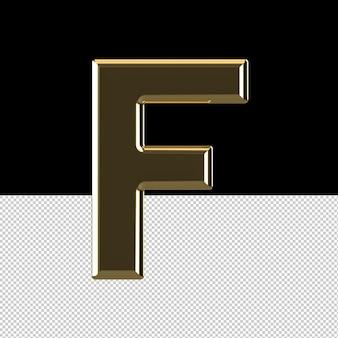 Carta f com efeito de texto em favo de mel
