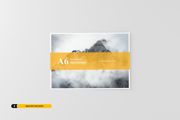 Cartão a6 / maquete flyer