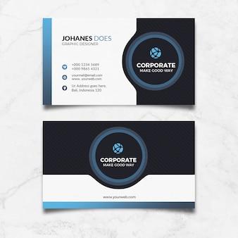 Cartão azul moderno