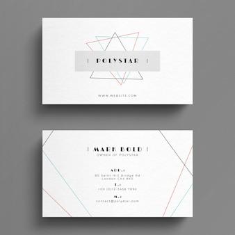 Cartão branco simples