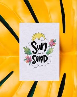Cartão colorido com mensagem motivacional