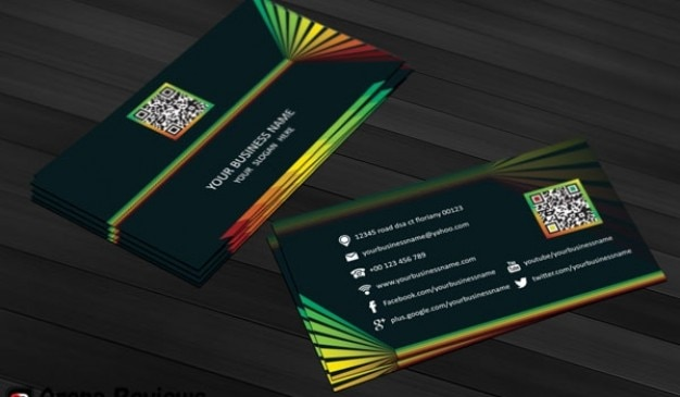 Cartão colorido template psd