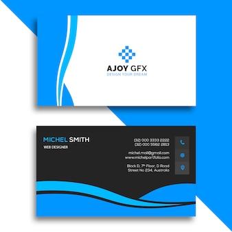 Cartão corporativo azul