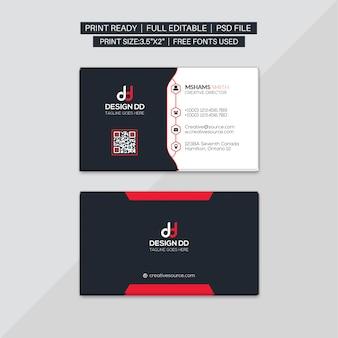 Cartão corporativo vermelho