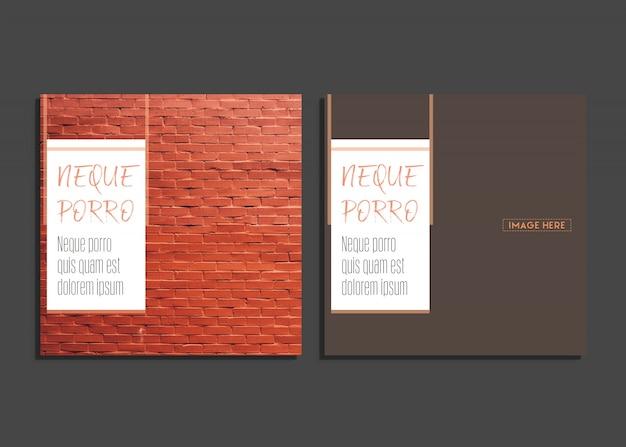 Cartão criativo com bonito design de fotografia