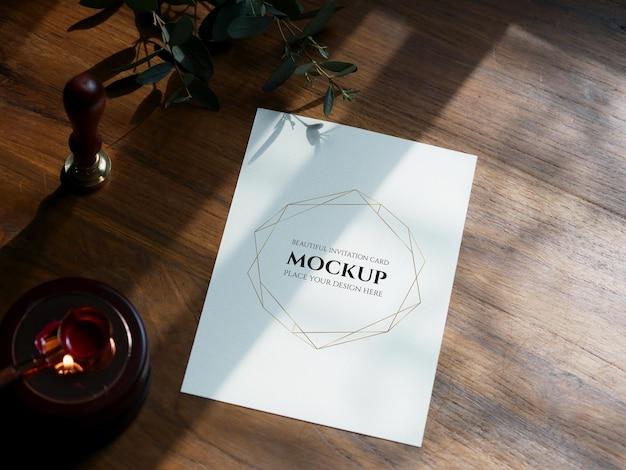Cartão de convite de maquete para convite de casamento