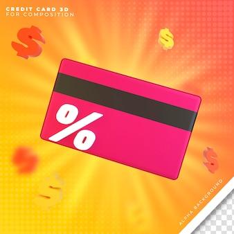 Cartão de crédito 3d