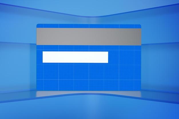 Cartão de crédito no glass