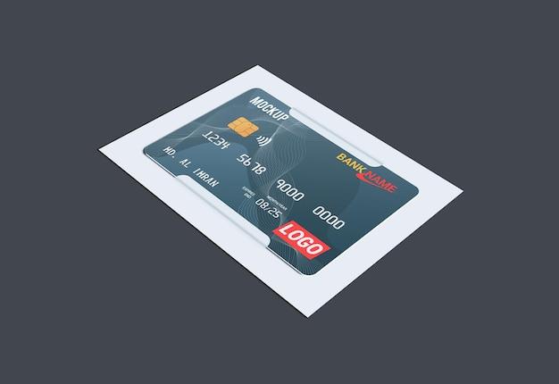 Cartão de débito cartão inteligente cartão plástico em maquete de suportes de papel
