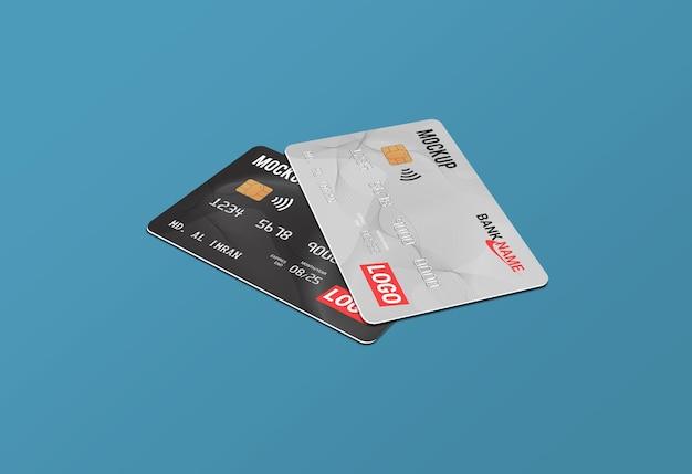Cartão de débito smart card cartão plástico maquete