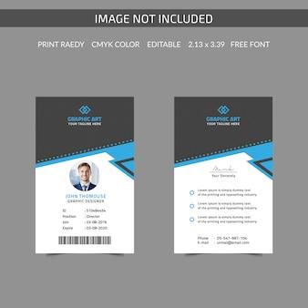 Cartão de identificação corporativa simples