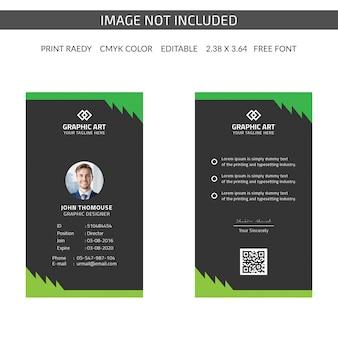 Cartão de identificação da empresa