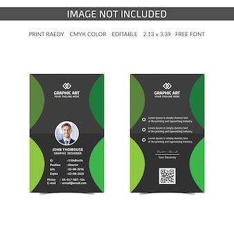 Cartão de identificação de empresa simples