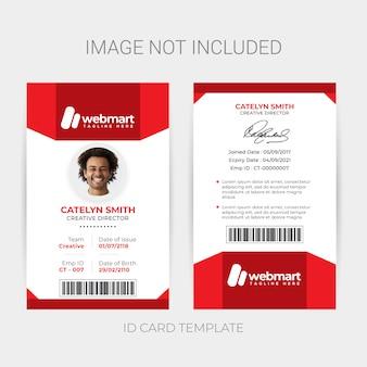 Cartão de identificação do empregado