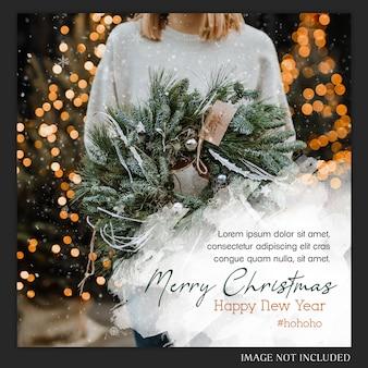 Cartão de instagram do natal