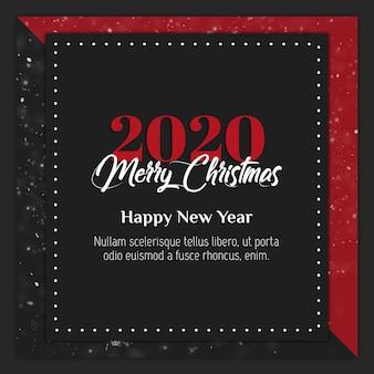 Cartão de natal instagram ou modelo de banner