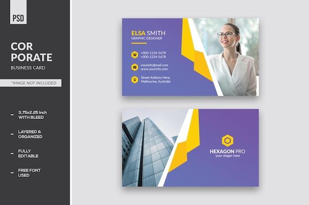 Cartão de negócios corporativo