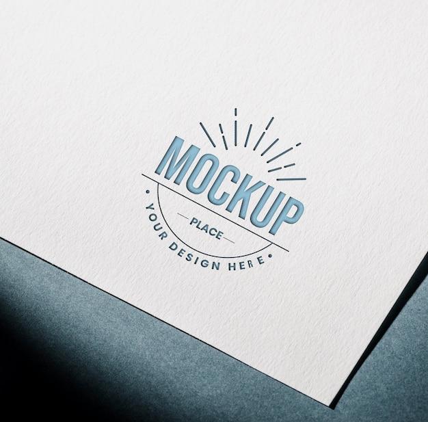 Cartão de papel texturizado mock-up