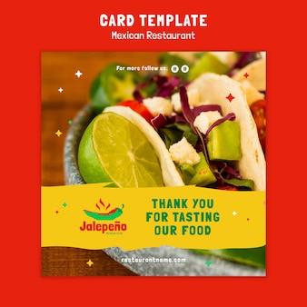Cartão de restaurante mexicano