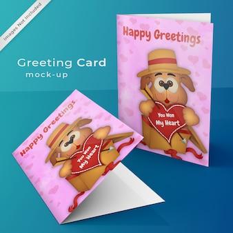 Cartão de saudação mock up