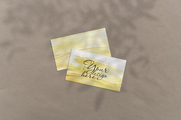Cartão de visita 3.5x2 polegadas mockup