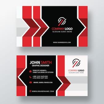 Cartão de visita abstrato vermelho