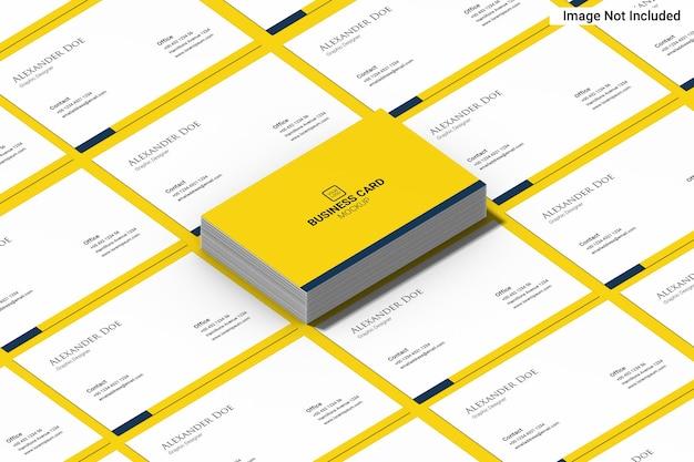 Cartão de visita amarelo minimalis com paisagem
