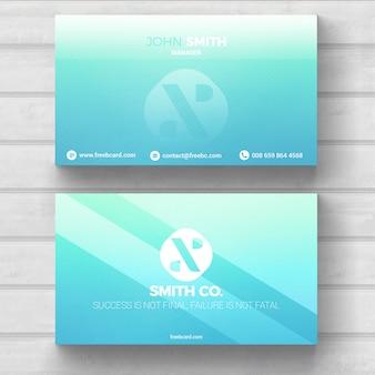 Cartão de visita azul luz mínima