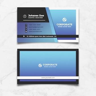 Cartão de visita azul moderno