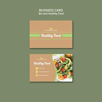 Cartão de visita bio e saudável