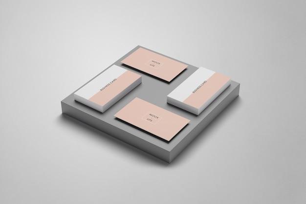 Cartão de visita com forma de maquete