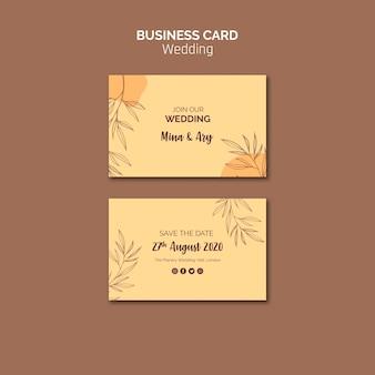 Cartão de visita com tema de casamento