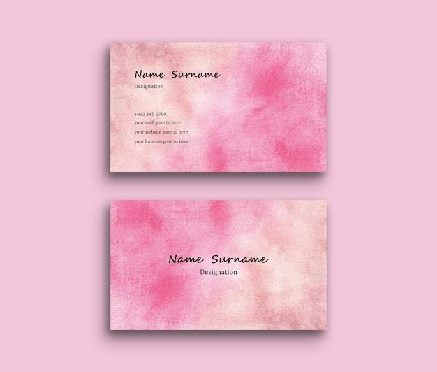 Cartão de visita com textura de fundo de pincel de sombreamento de aquarela abstrata