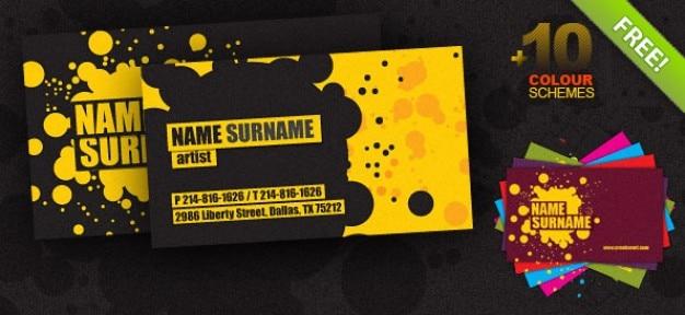 Cartão de visita criativo psd modelo