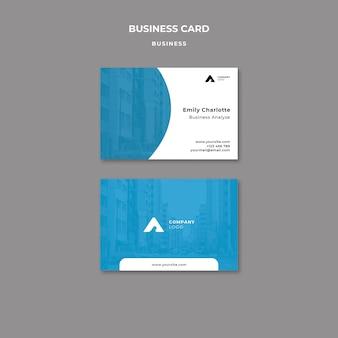 Cartão de visita da agência de marketing