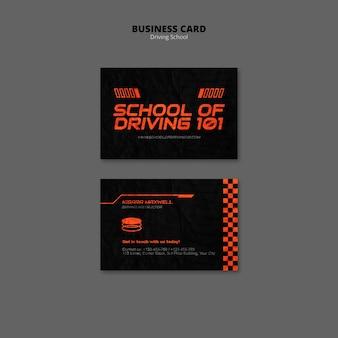 Cartão de visita da escola de condução