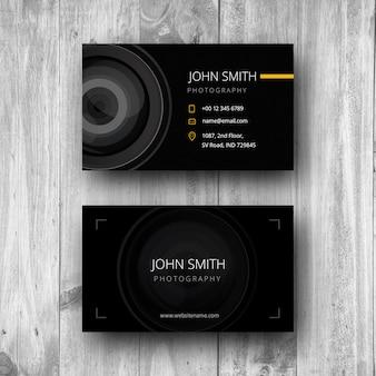 Cartão de visita da fotografia