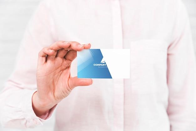 Cartão de visita de close-up