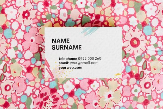 Cartão de visita de cores mock up