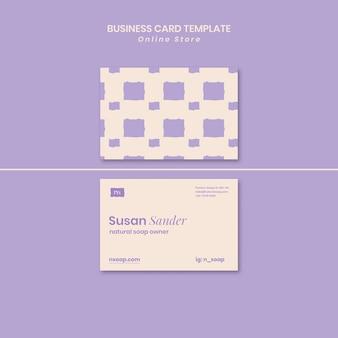 Cartão de visita de loja de sabonete artesanal