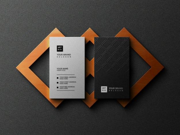 Cartão de visita de luxo com maquete de logotipo