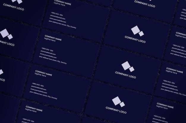 Cartão de visita de maquete com design moderno