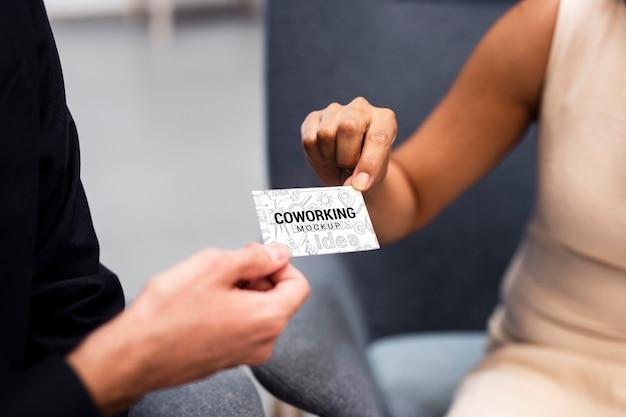 Cartão de visita de troca de funcionário corporativo